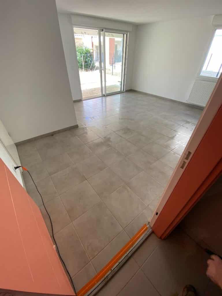 Nettoyage de fin de chantier d'un programme de 42 appartements sur la commune de Mondonville, DNA Propreté & Services