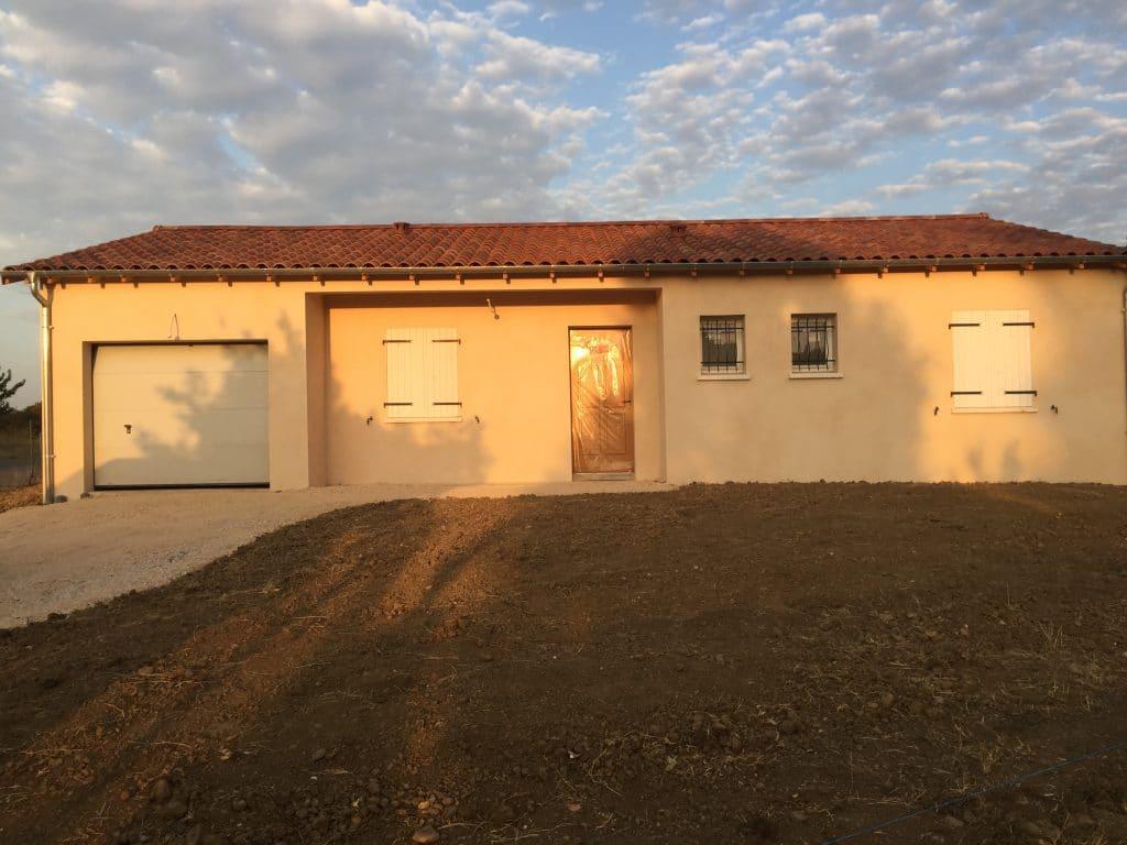 Nettoyage de fin de chantier d'une villa située sur la commune de Daux, DNA Propreté & Services