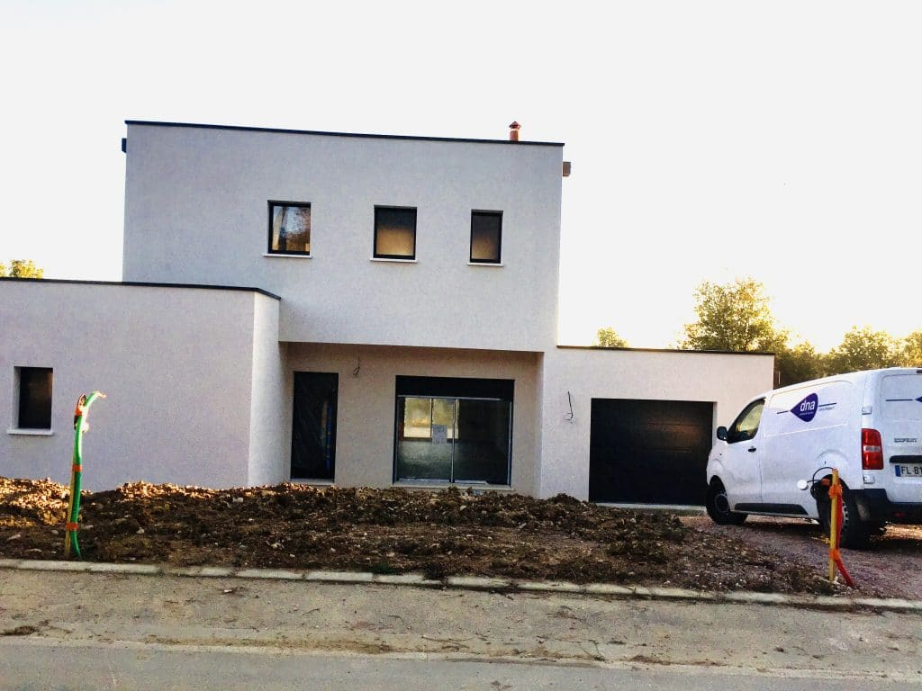 Nettoyage de fin de chantier d'une villa située à Grazac (SFMI), DNA Propreté & Services