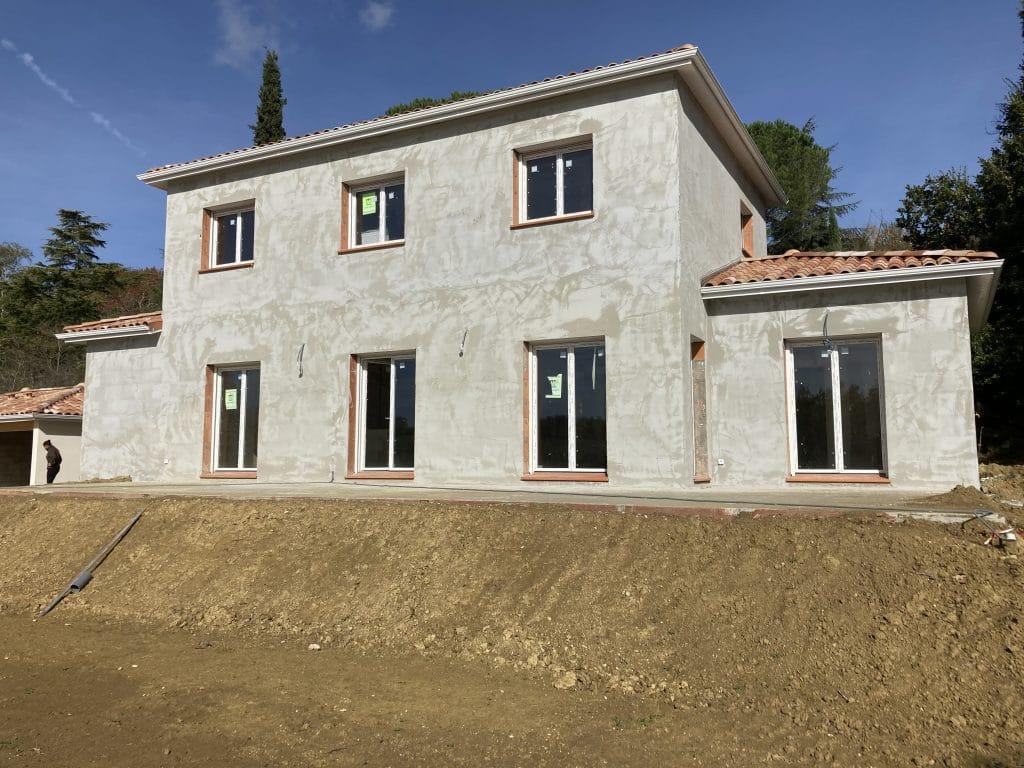 Nettoyage de fin de chantier d'une villa située à Montastruc-la-Conseillere, DNA Propreté & Services