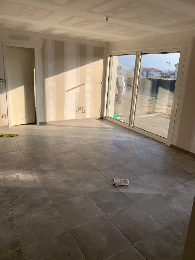 Nettoyage de fin de chantier d'une villa située à Miremont, DNA Propreté & Services