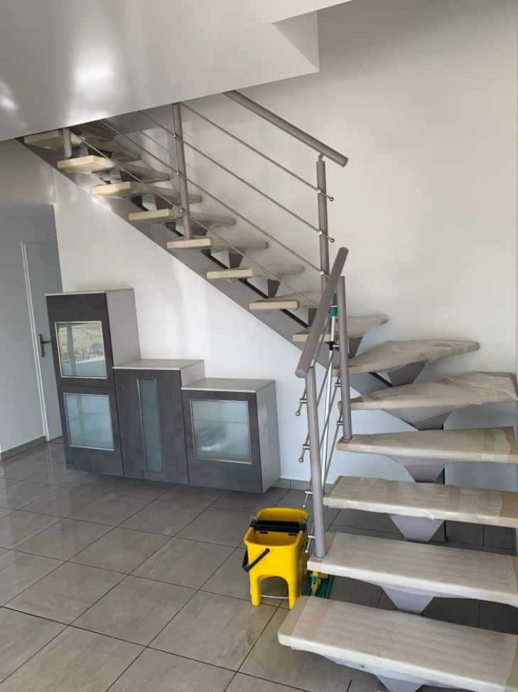 Nettoyage de fin de chantier d'une villa située à Belberaud, DNA Propreté & Services